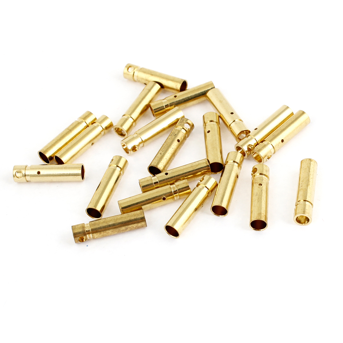 20PCS Gold Tone Metal RC Banana Connector Female 3mm Diameter