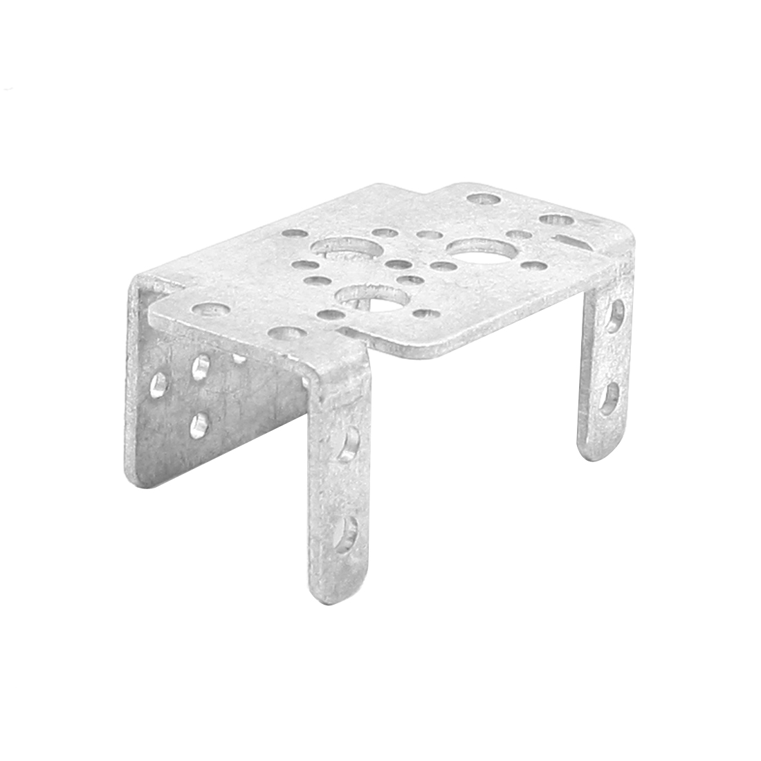 Silver Tone Aluminum Alloy U Shape Multi Holes Bracket for Models