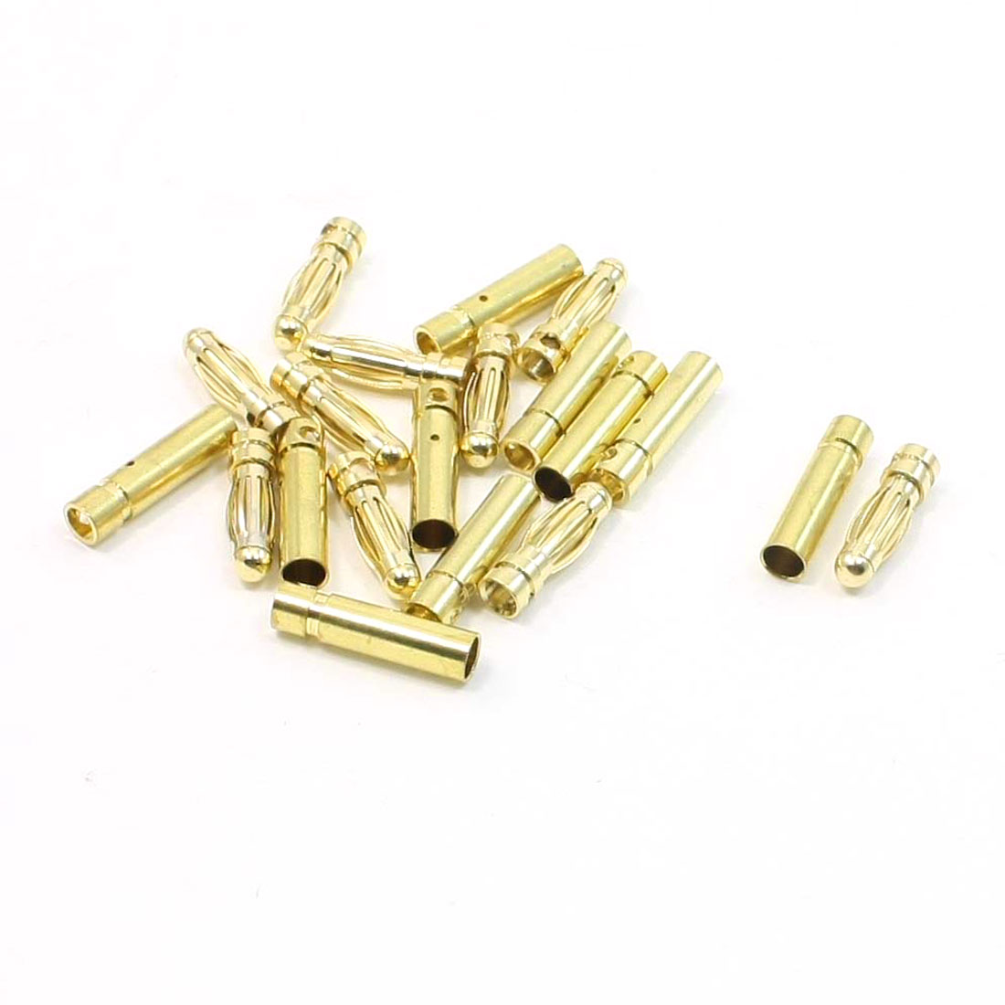 10 Pairs Gold Tone Metal 3mm Dia Audio Banana PLug Connectors