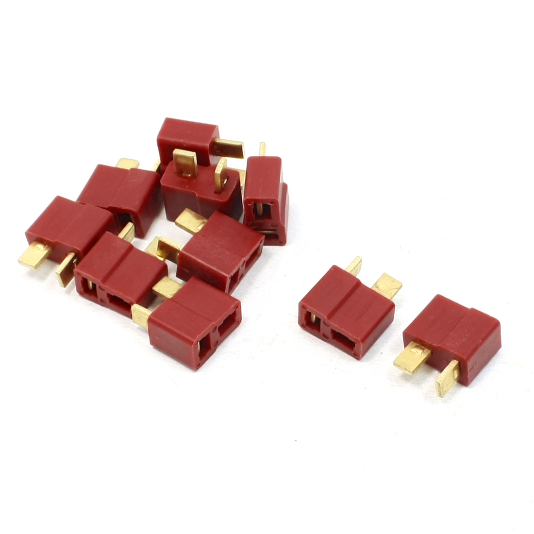10 Pcs Anti-skid Female Plug T-Connector Y307 for RC Vehicle Battery