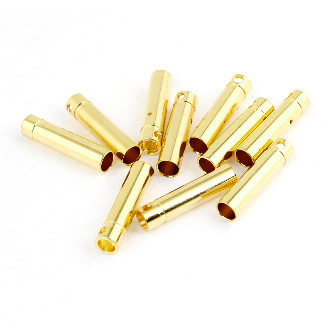 10 Pcs Y403 Gold Tone Metal Plug Female Connector 4mm Diameter