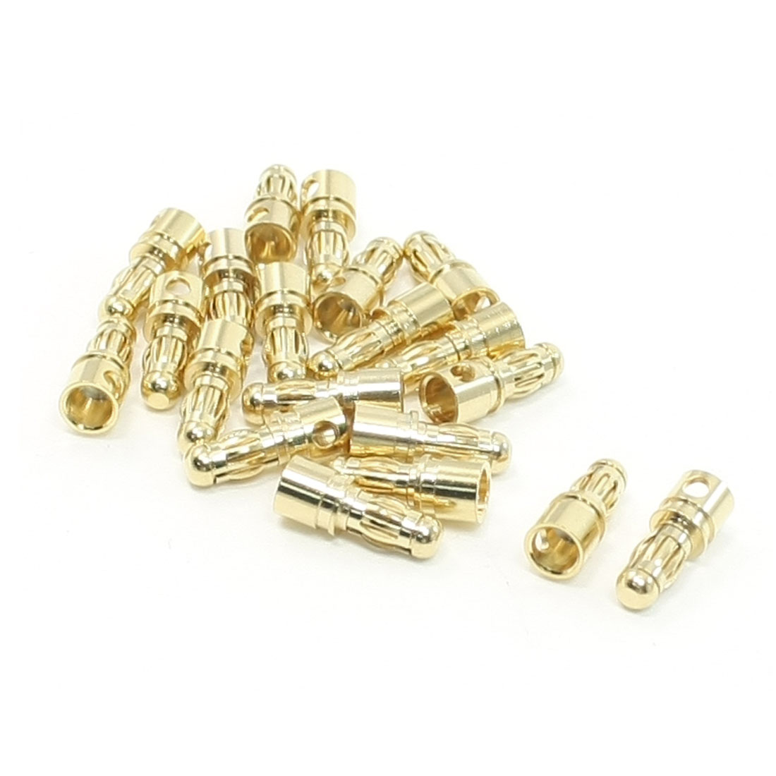 20pcs RC Model Li-Po Battery Male Banana Connector 3.5mm