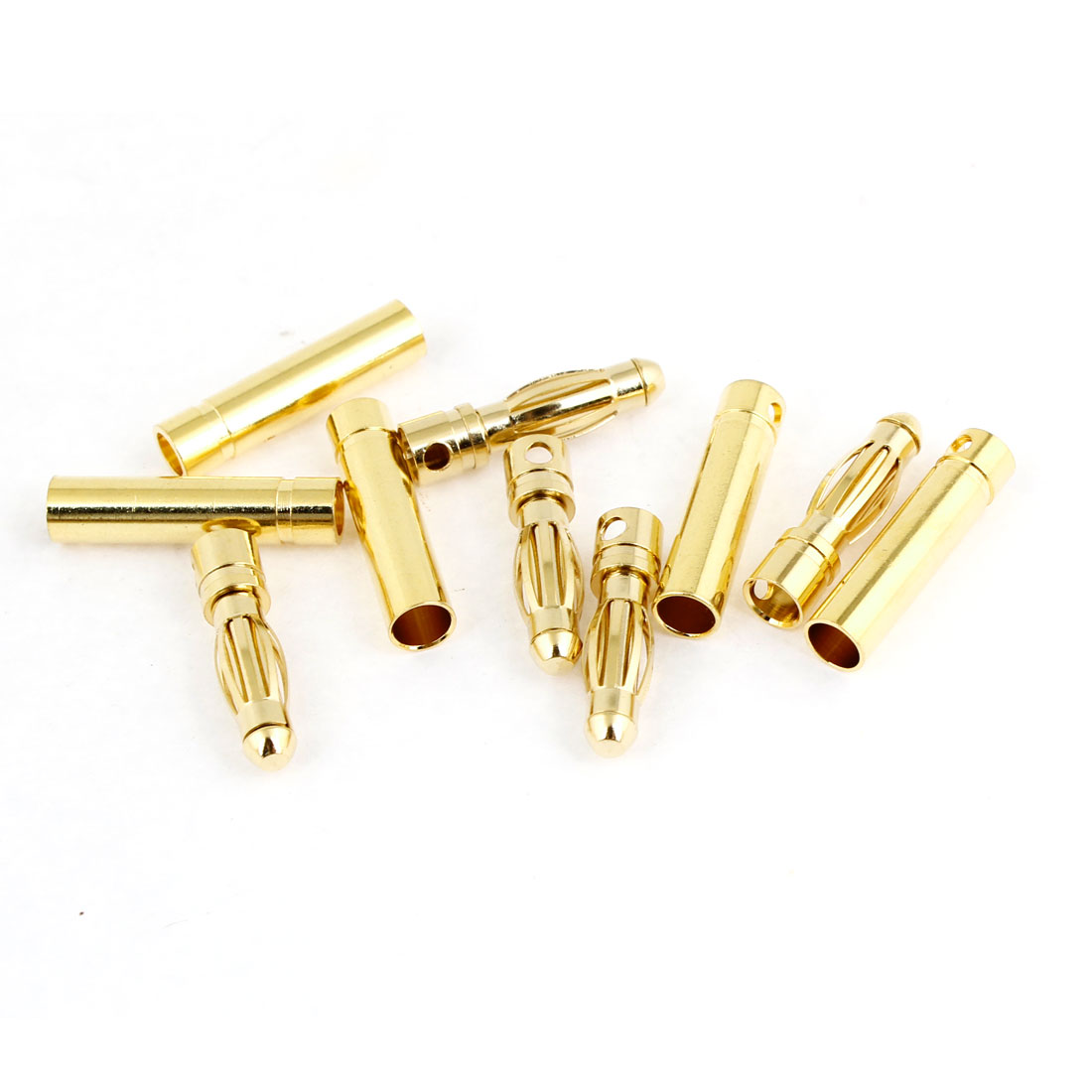 5 Pairs RC Model Li-Po Battery Male Female Banana Connector 4mm