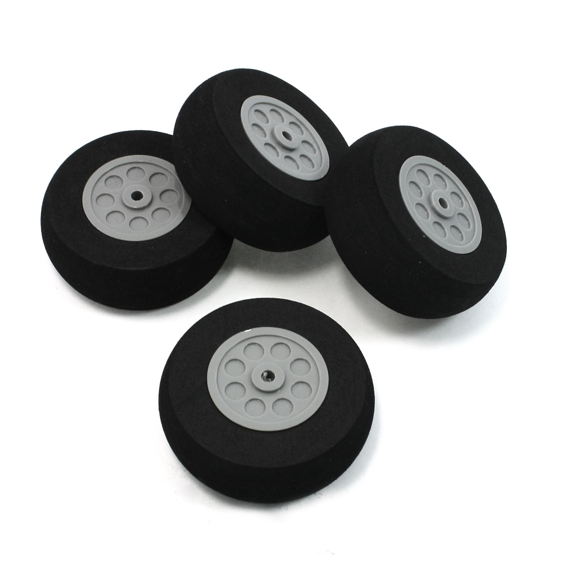 RC DIY Plane Model Airplane Plastic Hub Black Foam Wheel Repair Part 65mm