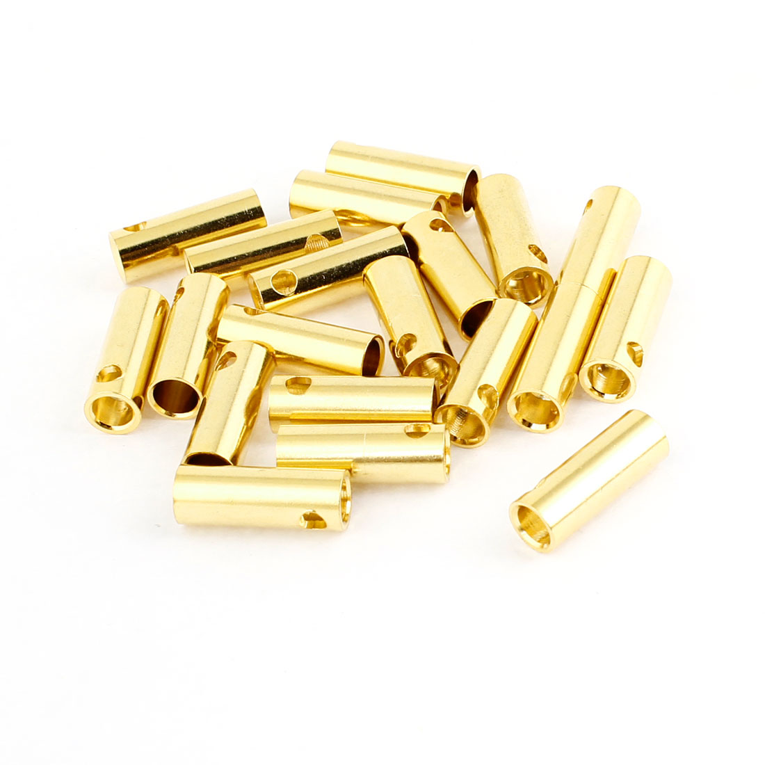 20PCS MH1159 Gold Tone Metal RC Banana Connector Female 5mm