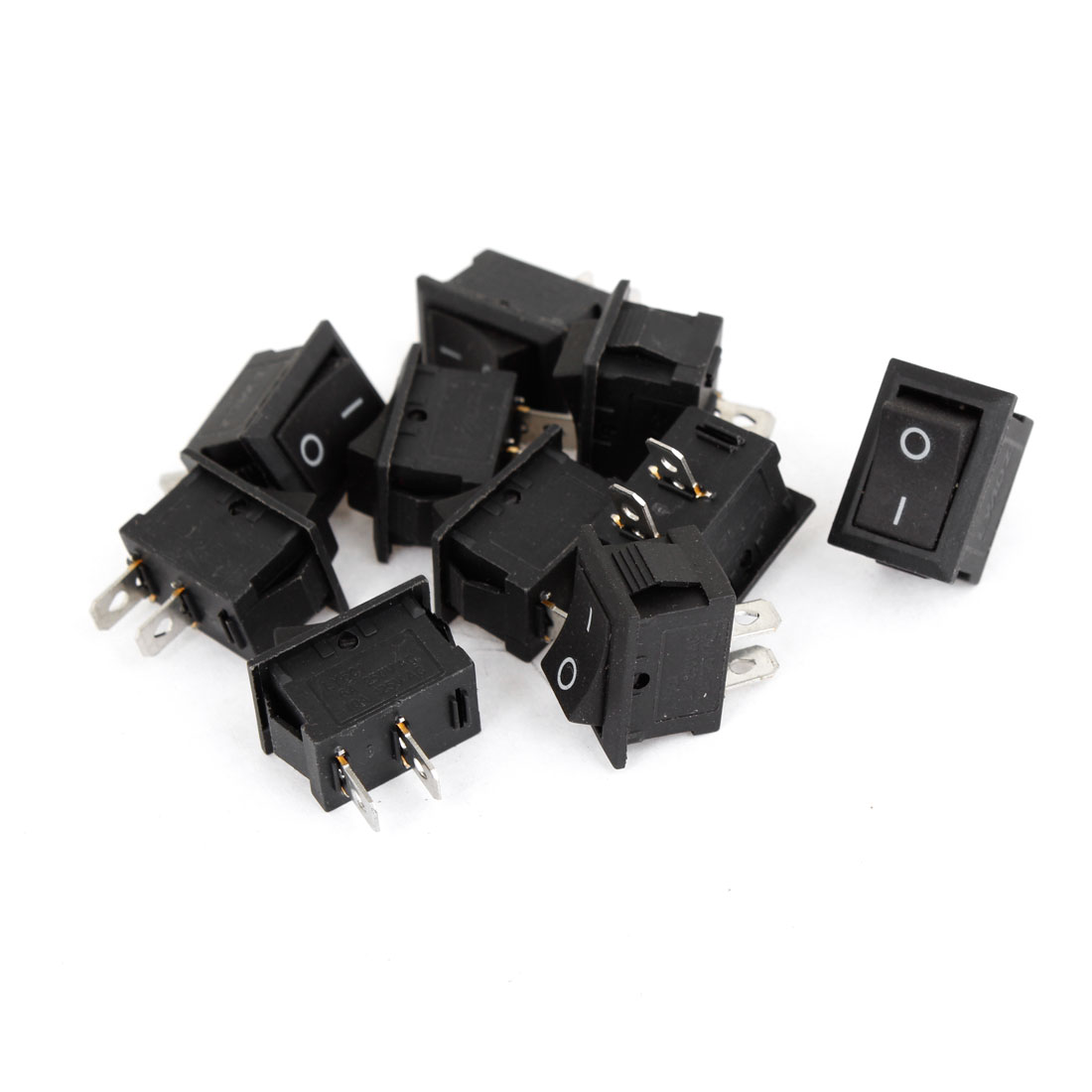 8 x 2-Terminals 2 Position AC 6A/250V 10A/125V Boat Rocker Switch for Car