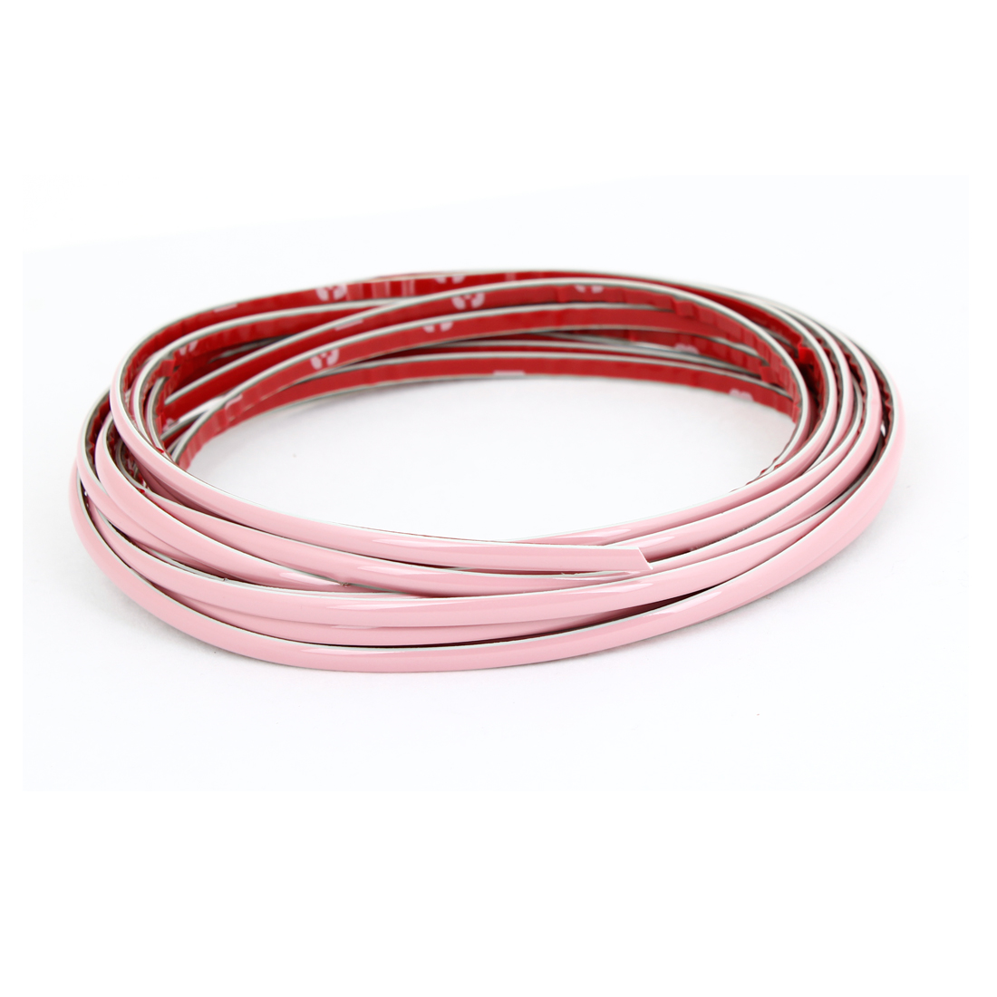 5 Meters Pink Plastic Flexible Moulding Trim Strip Sticker for Car