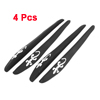 4 x White Gecko Pattern Black Rubber Door Guard Protector for Car