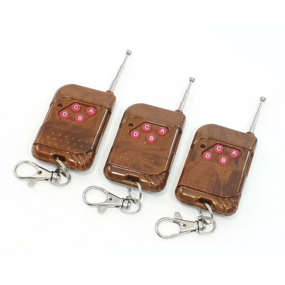 3 Pcs x DC 12V Four 4 Button 433MHz RF Wireless Remote Control Switch Transmitter Keyring