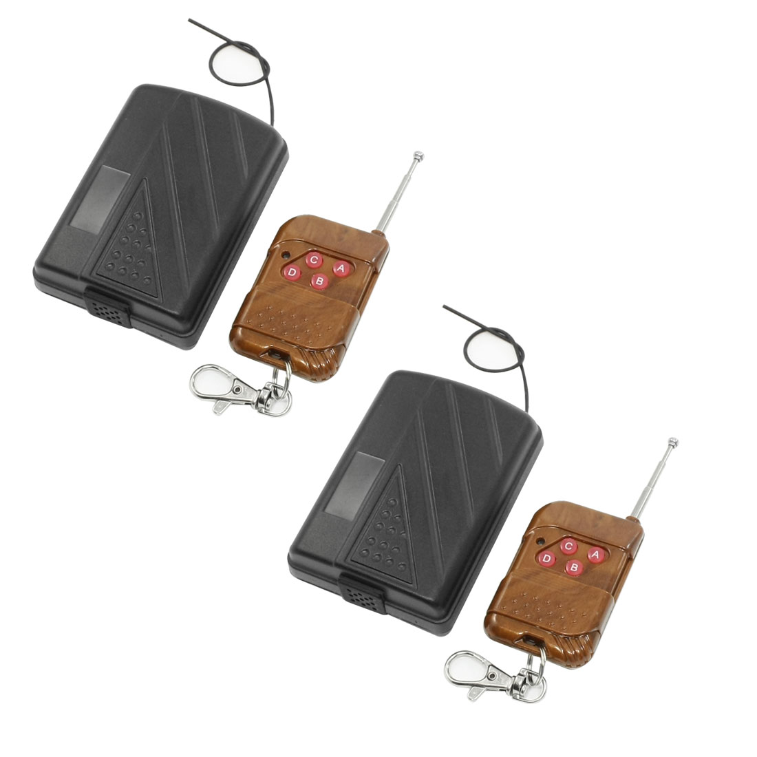 2 Sets DC 12V 4-Channel Fixed Code Wireless Remote Control Switch Transmitter Receiver