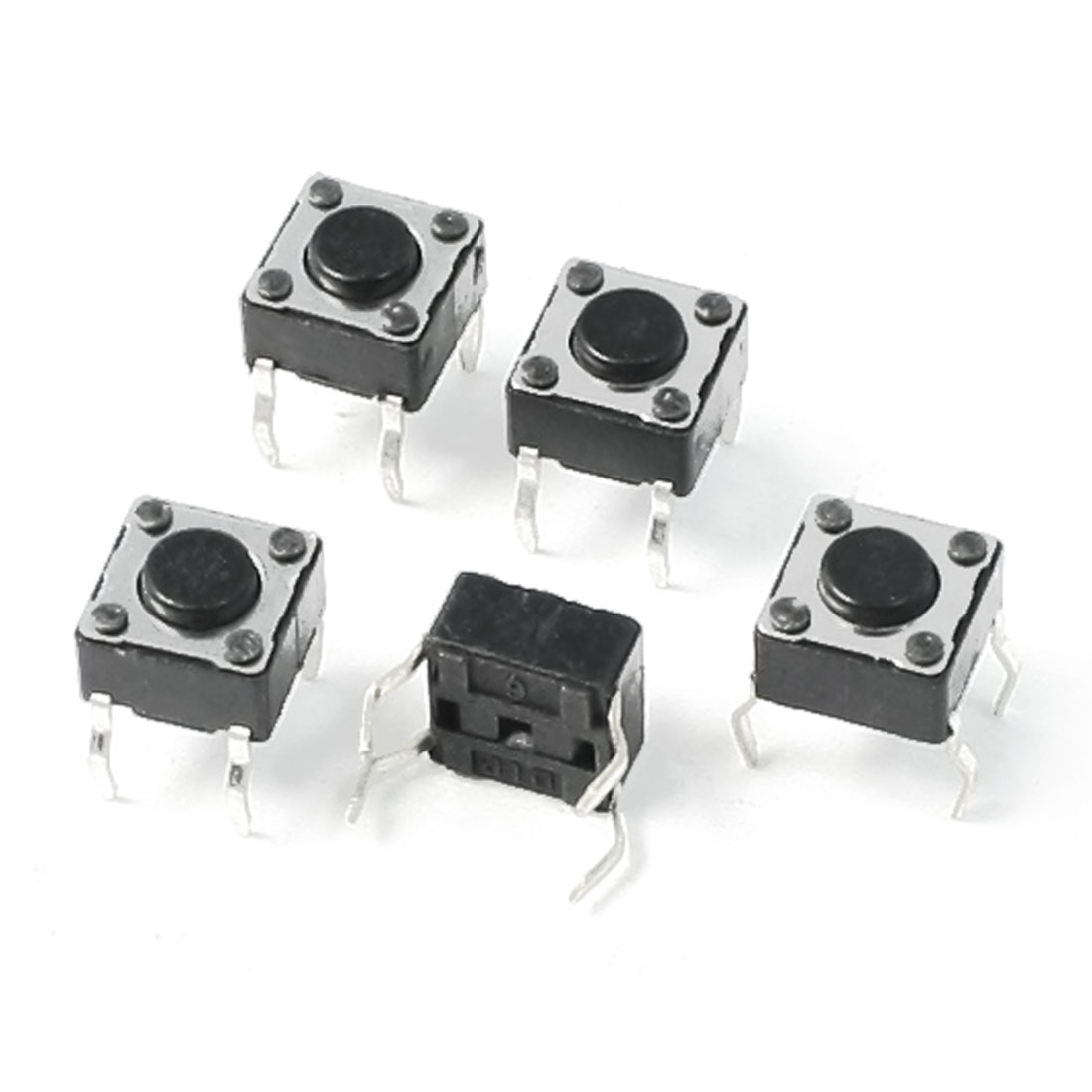 5PCS Home Appliance Spare Part Momentary Tact Switch 4.3mmx6.2mmx6.2mm DC12V 0.2A