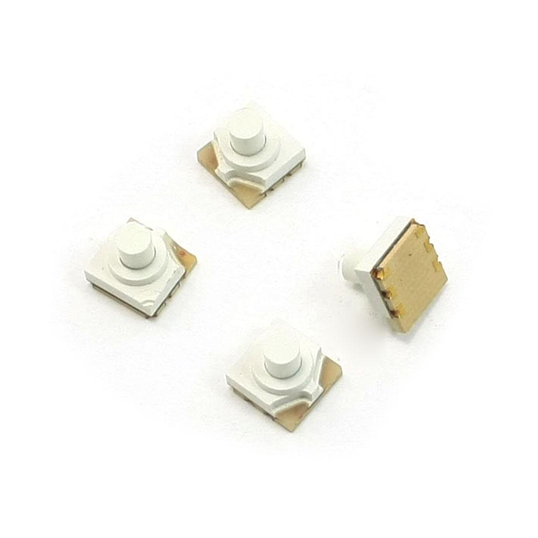 DC 12V 0.2A 5.2x5.2x5mm 6P SPST Momentary SMD SMT Tactile Switch w LED 4 Pcs