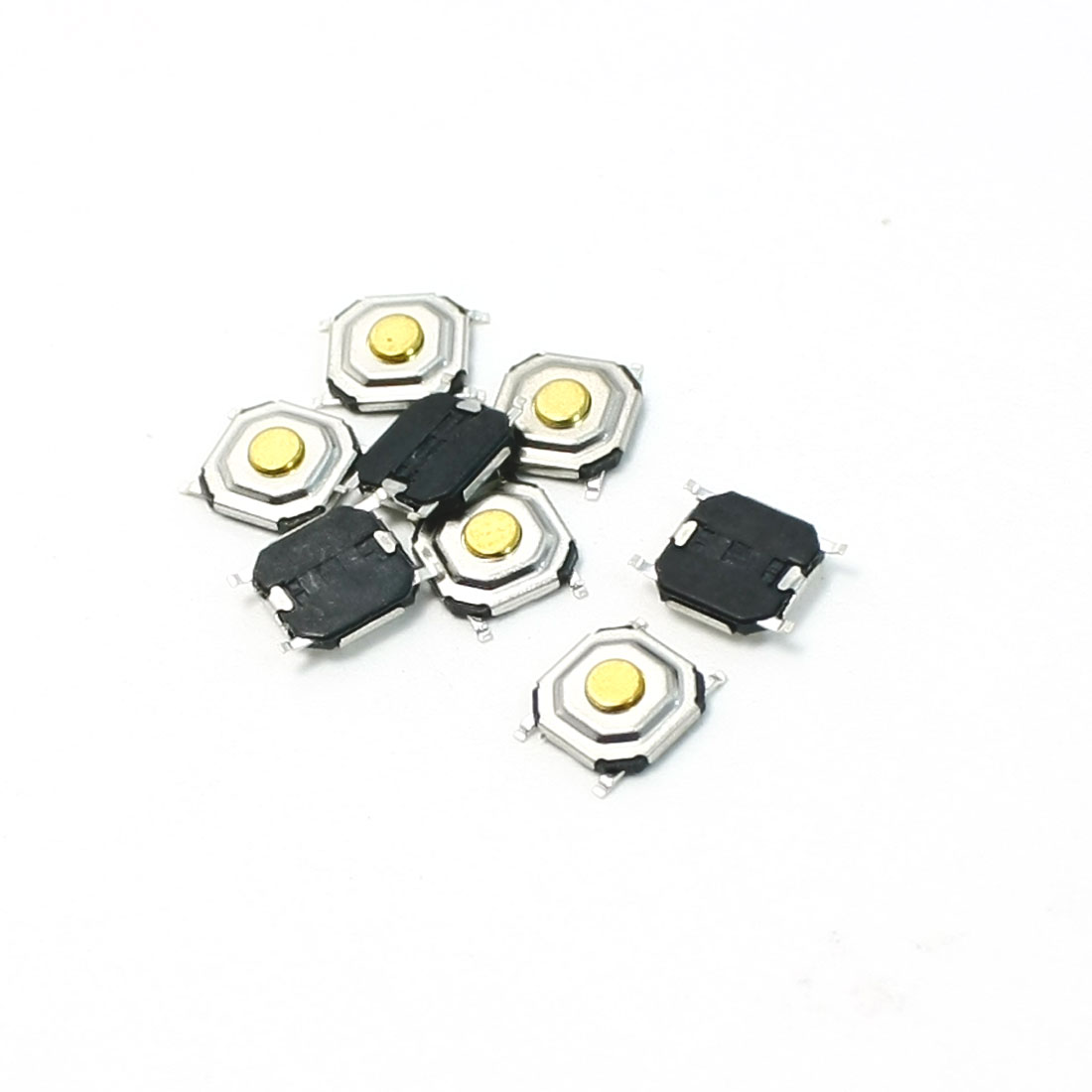 8pcs 5x5x1.5mm SMT SMD Momentary Action 4 Pin Tact Tactile Switch DC 12V 0.2A