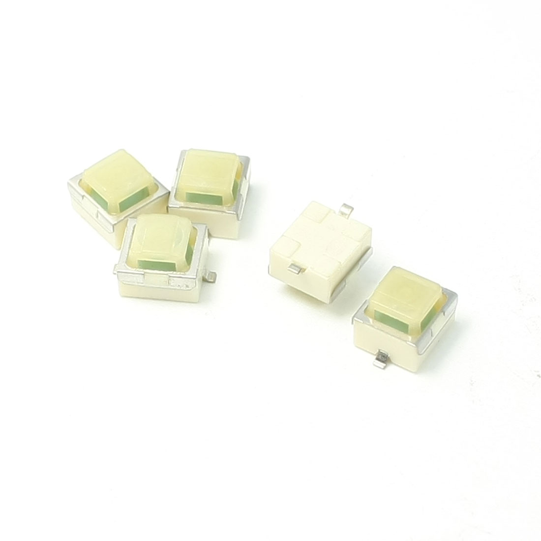 5pcs 6.5x6.3x5mm Momentary Action Square Button Tactile Tact Switch DC 12V 0.2A