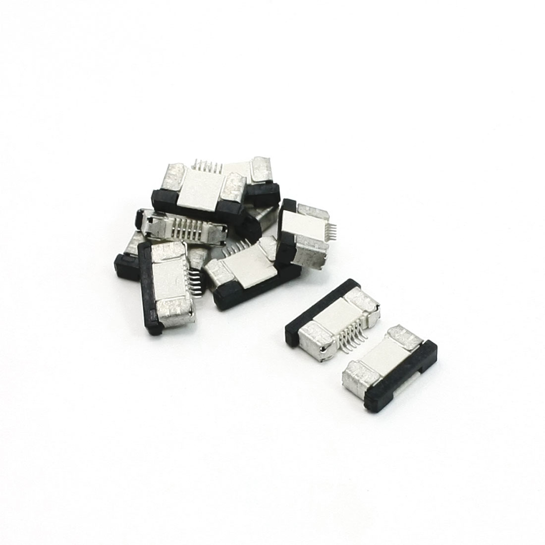 10 Pcs FFC FPC 6 Pin Bottom Connect 0.5mm Pitch Ribbon Connector Socket