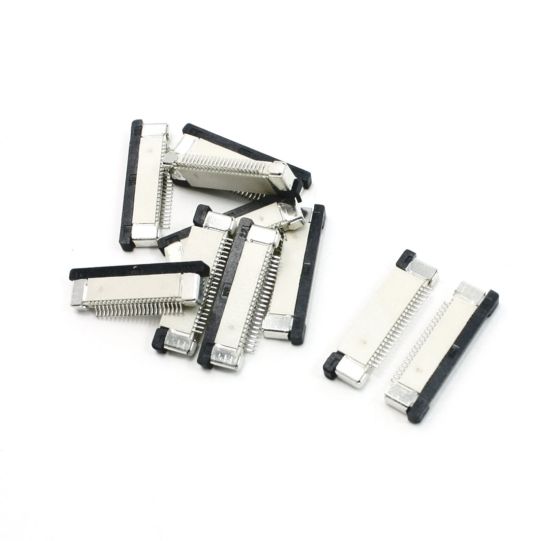 10 Pcs FFC FPC Bottom Connect 0.5mm Pitch Ribbon Connector Socket
