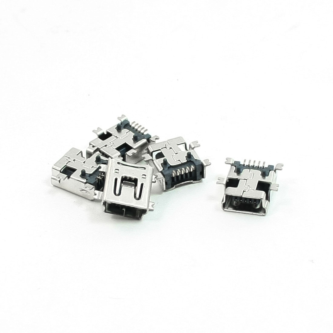 5 Pcs SMT PCB Mounting 5Pin Mini USB Female Connectors Jacks