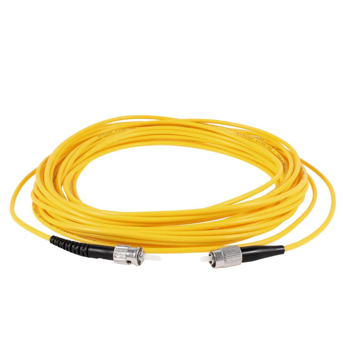 Yellow 33ft 10M Fiber Optic Cable FC to ST SM Single Model SX 9/125 3.0