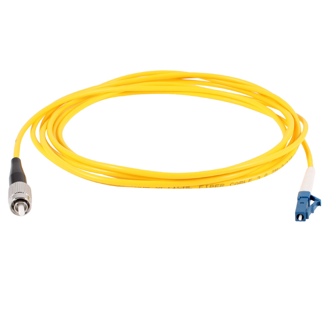 Yellow FC to LC Fiber Patch Cable Cord Jumper SX SM 9/125 3.0 10ft 3Meter