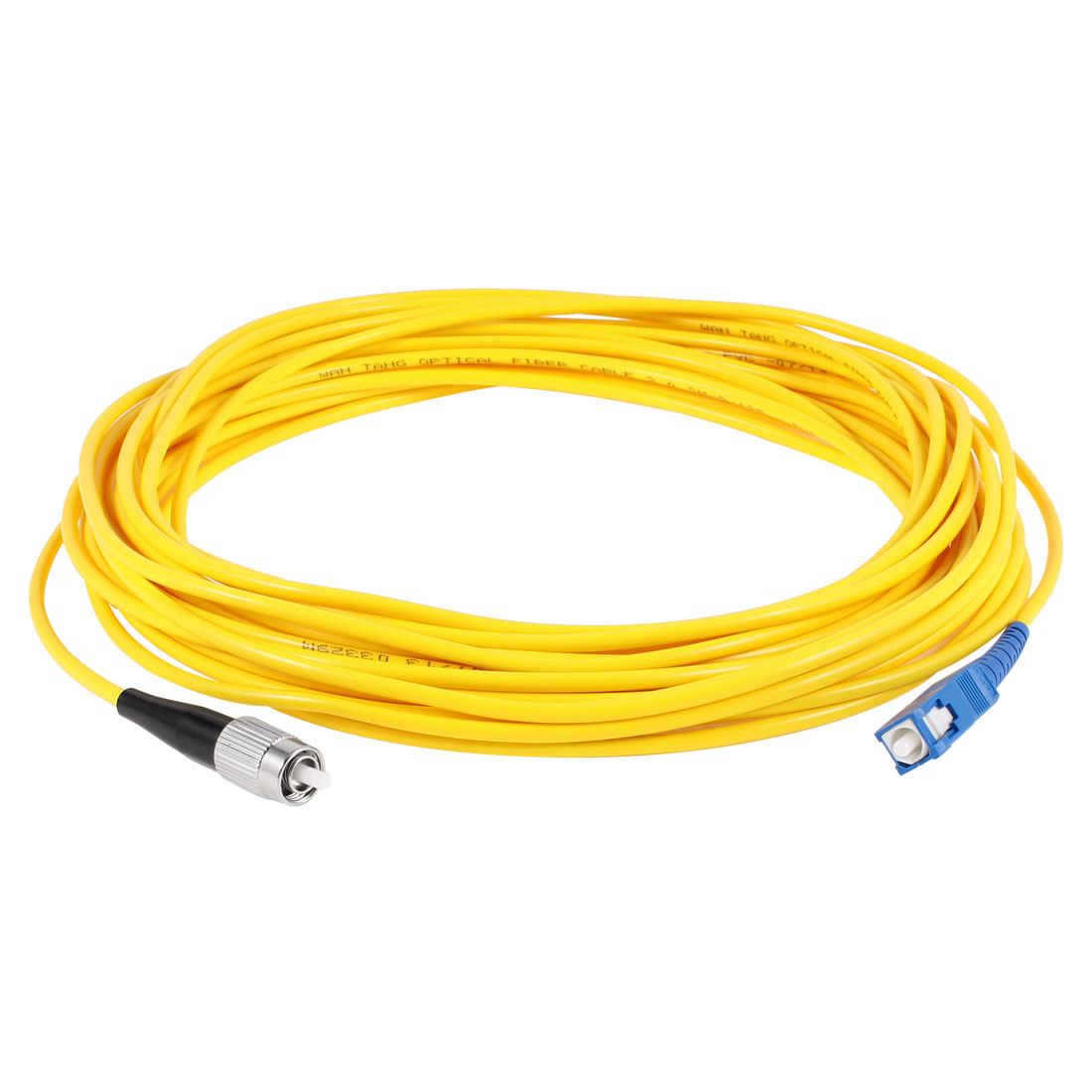 Yellow FC to SC Fiber Patch Cable Cord Jumper SX SM 9/125 3.0 10M 33ft