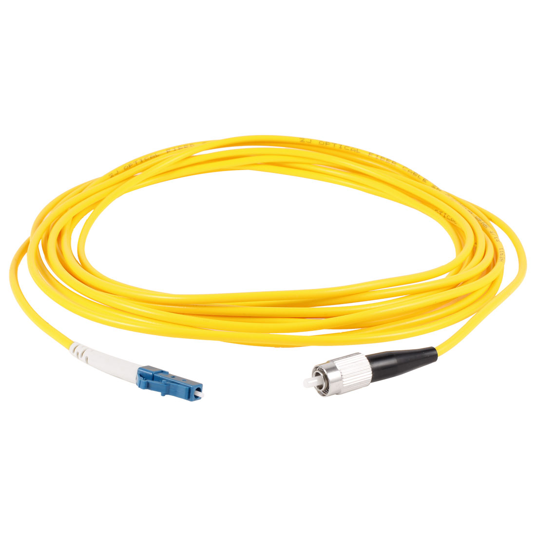 Yellow FC to LC SM Simplex 9/125 Fiber Optic Jumper Cable 3.0 5M