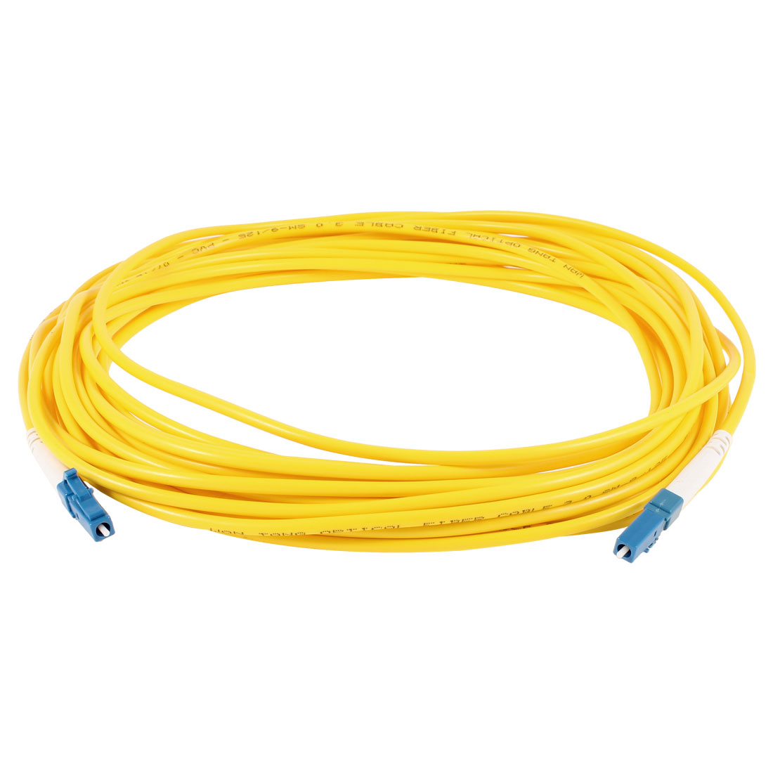 Yellow LC to LC SM Simplex 9/125 Fiber Optic Jumper Cable 3.0 10Meter