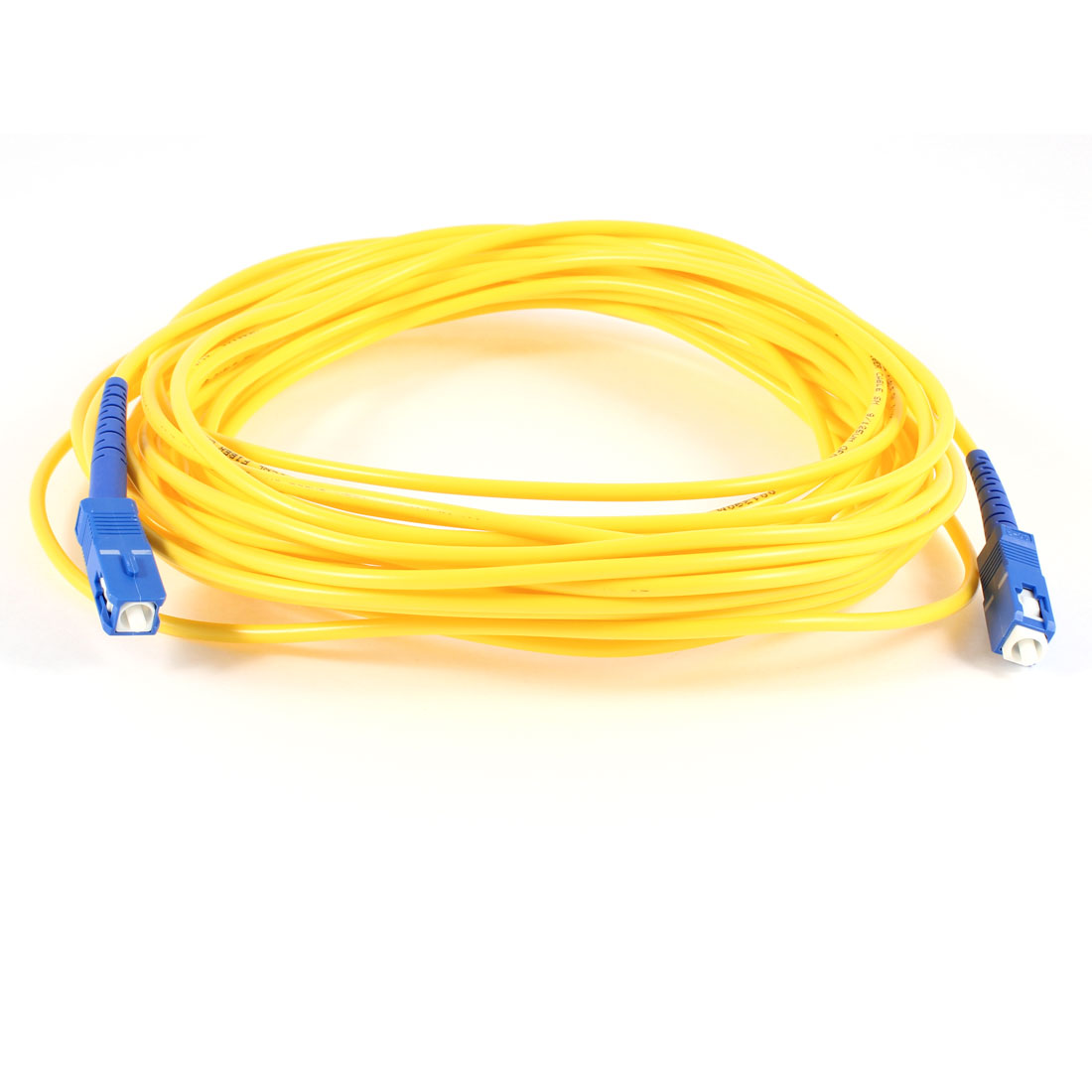 Yellow SC to SC Fiber Patch Cable Cord Jumper SX SM 9/125 3.0 33ft 10M