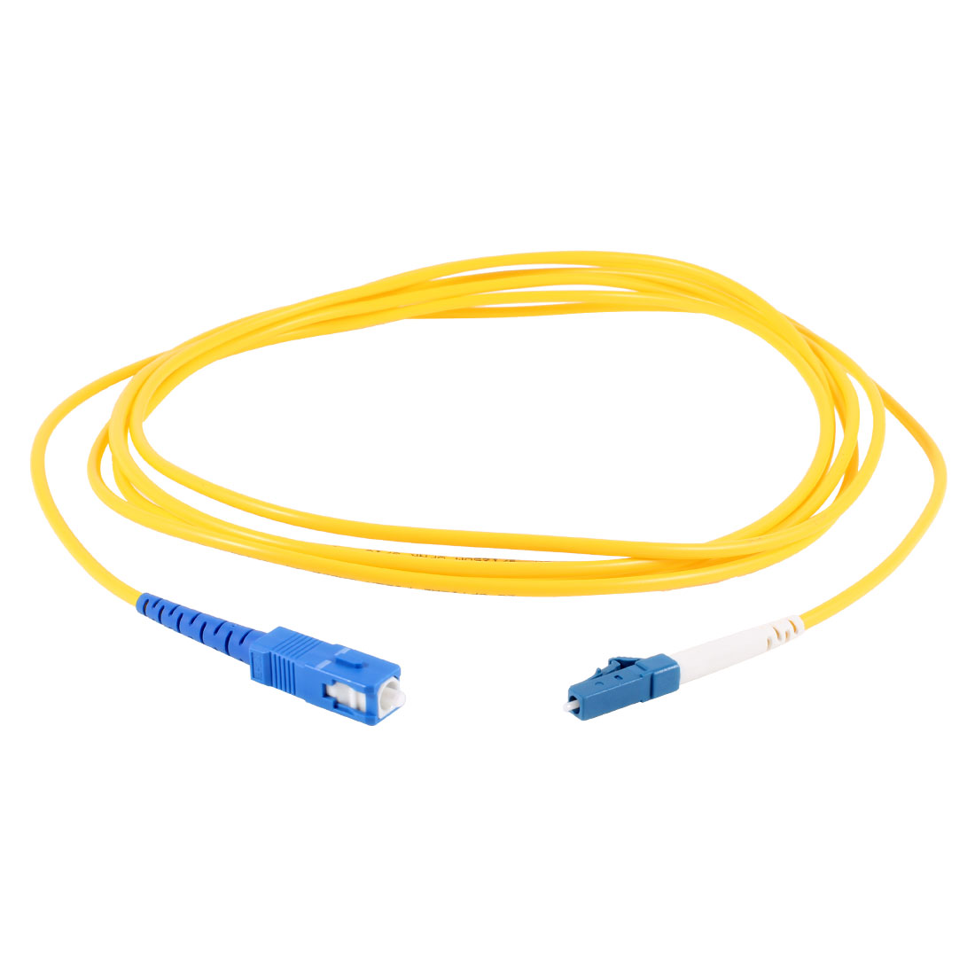 Yellow LC to SC SM Simplex 9/125 Fiber Optic Jumper Cable 3.0 10ft 3Meter