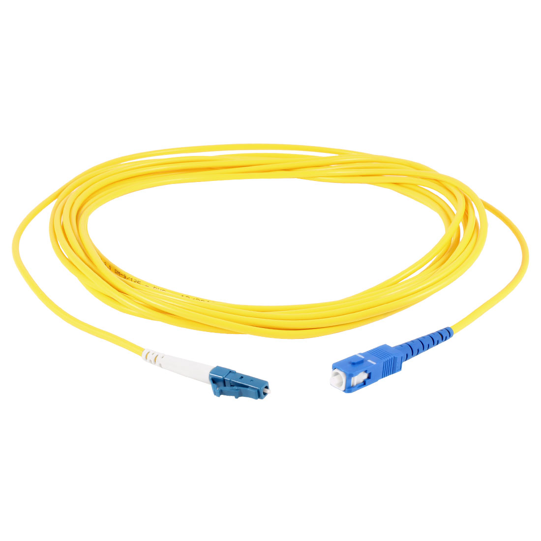 Yellow 5Meter Fiber Optic Cable LC to SC SM Single Model SX 9/125 3.0