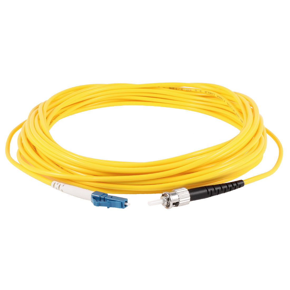 Yellow LC to ST SM Simplex 9/125 3.0 Fiber Optic Jumper Cable 10M 33ft