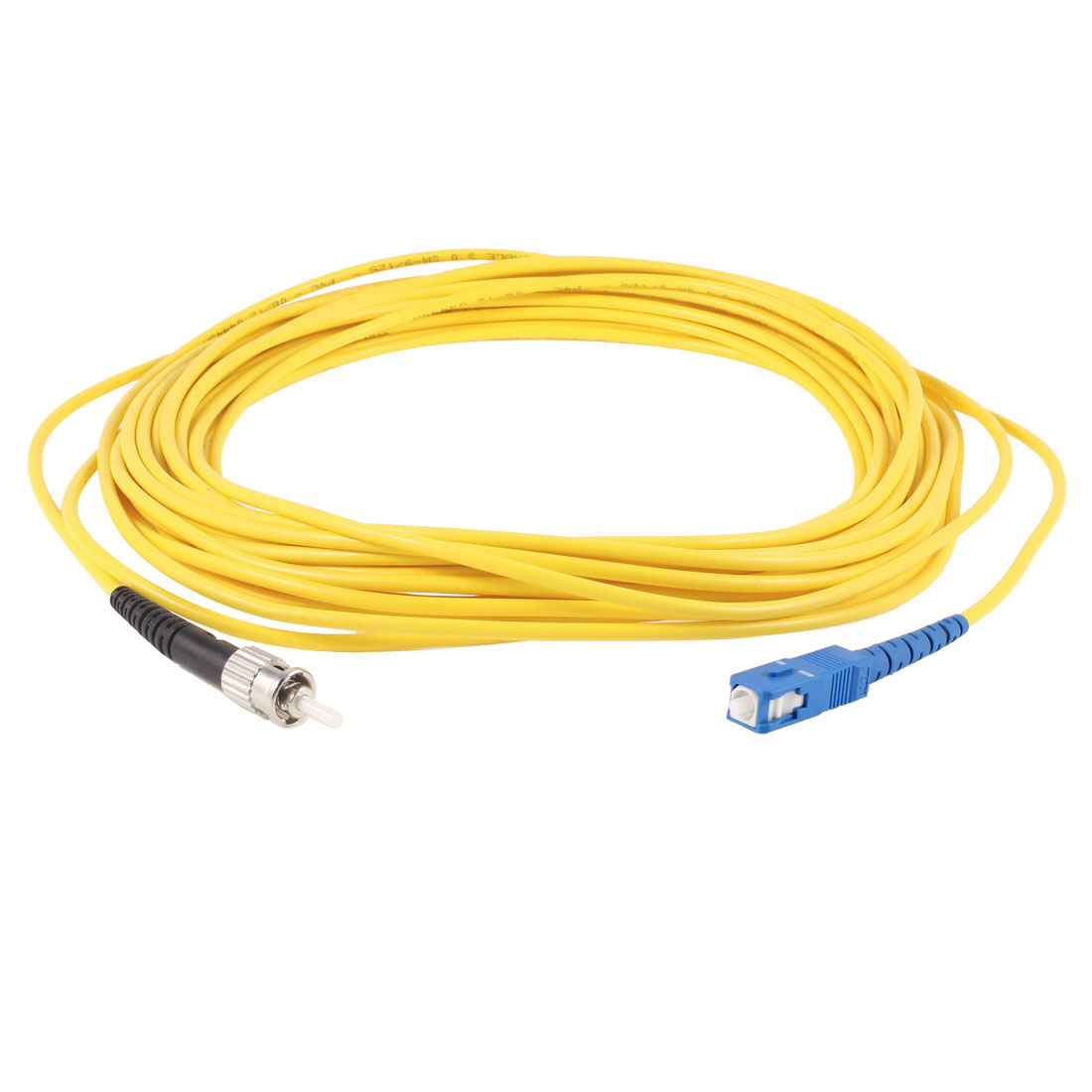 Yellow SC to ST SM Simplex 9/125 3.0 Fiber Optic Jumper Cable 10M 33ft