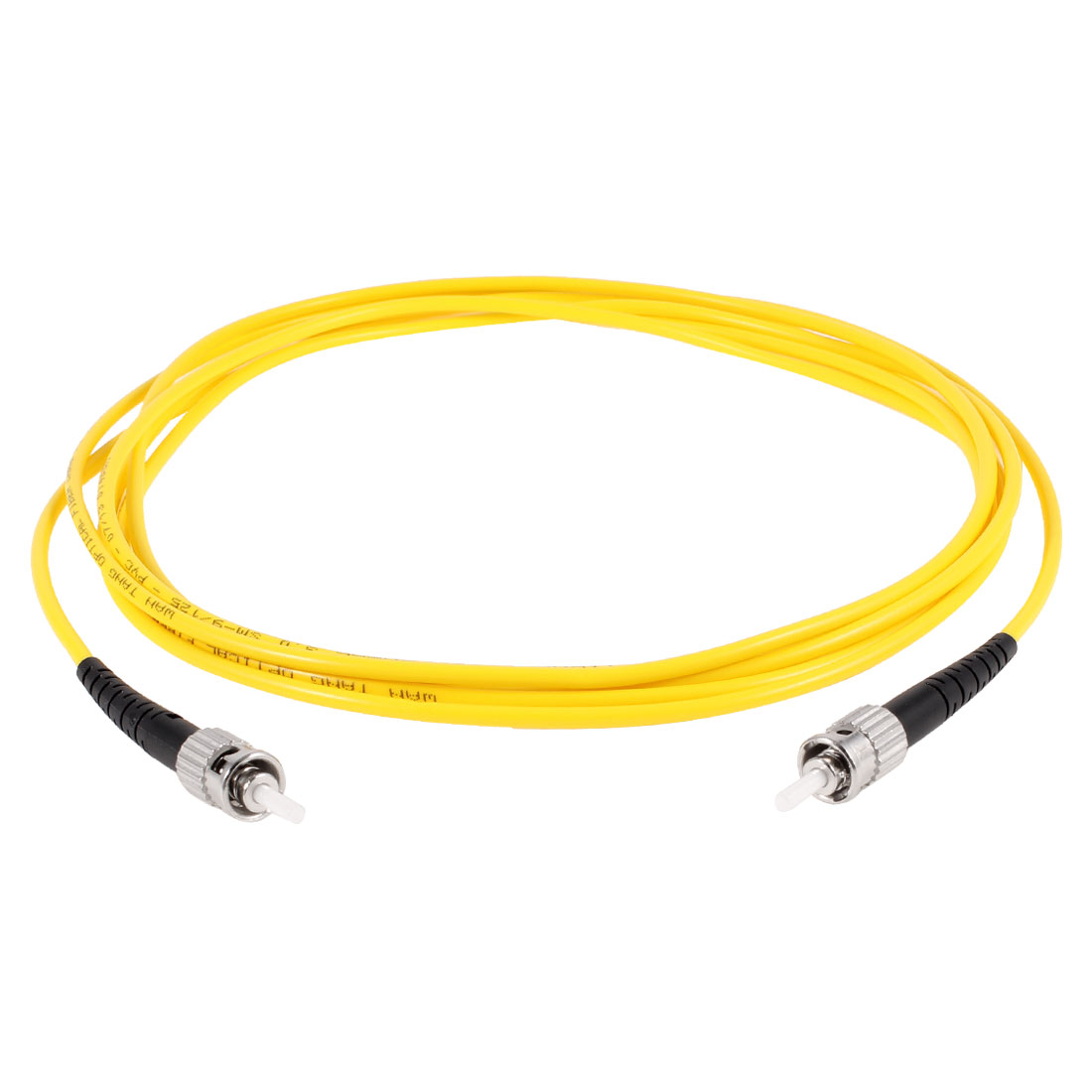 Yellow ST to ST SM Simplex 9/125 Fiber Optic Jumper Cable 3.0 3Meters