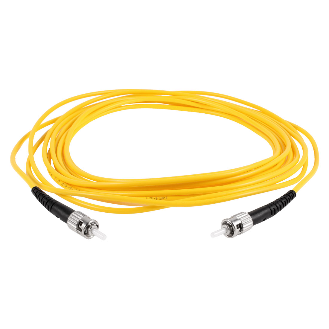 Yellow ST to ST Fiber Patch Cable Cord Jumper SX SM 9/125 3.0 5 Meters