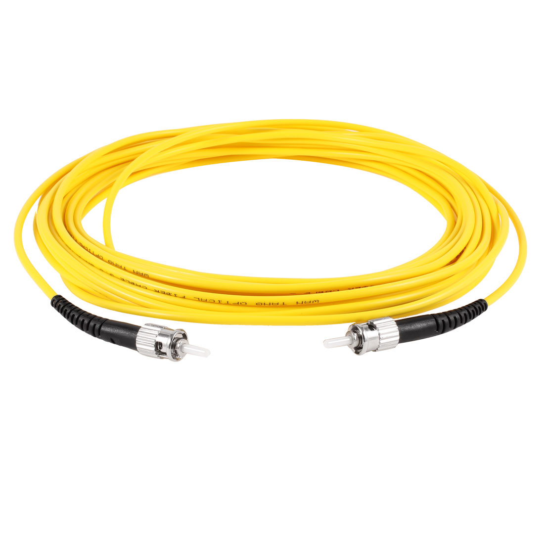 Yellow ST to ST SM Simplex 9/125 Fiber Optic Jumper Cable 3.0 10Meters