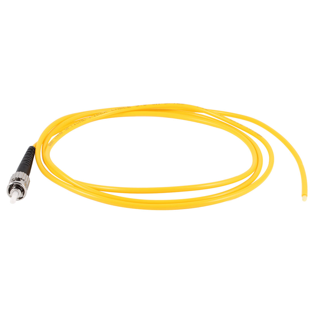 Yellow 1.5M 5ft Fiber Optic Cable ST Connector SM Single Model SX 9/125 3.0