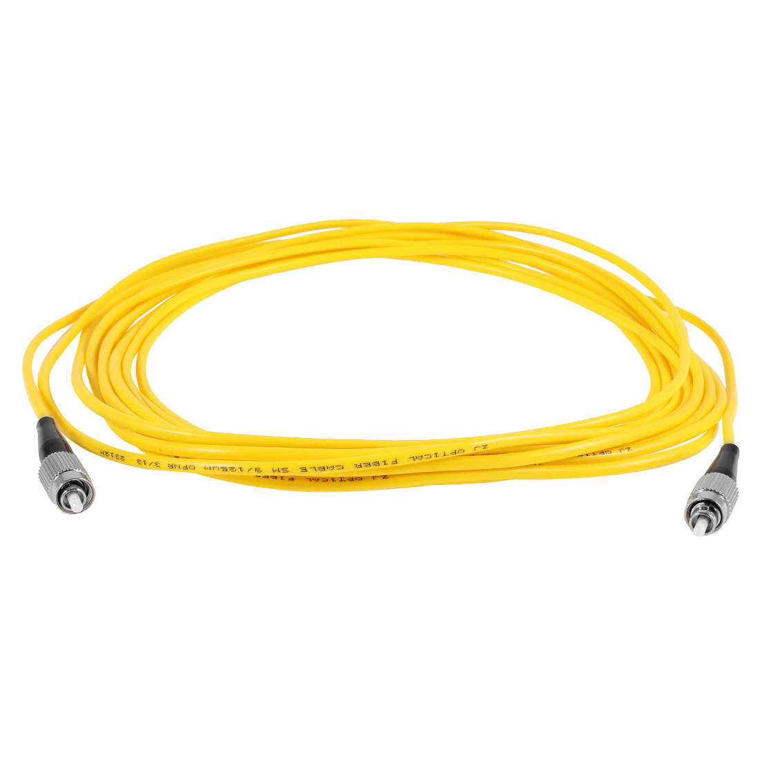 Yellow FC to FC Fiber Patch Cable Cord Jumper SX SM 9/125 3.0 5M