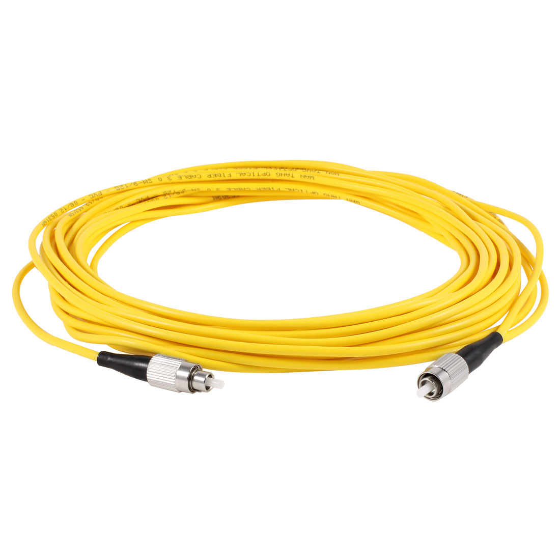 Yellow 33 foot 10M Fiber Optic Cable FC to FC SM Single Model SX 9/125 3.0