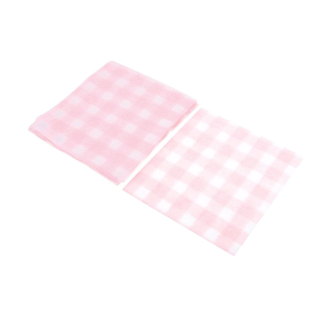 Outdoors Hiking Pink White Diaposable Facial Wash Dry Towels 18 Pcs