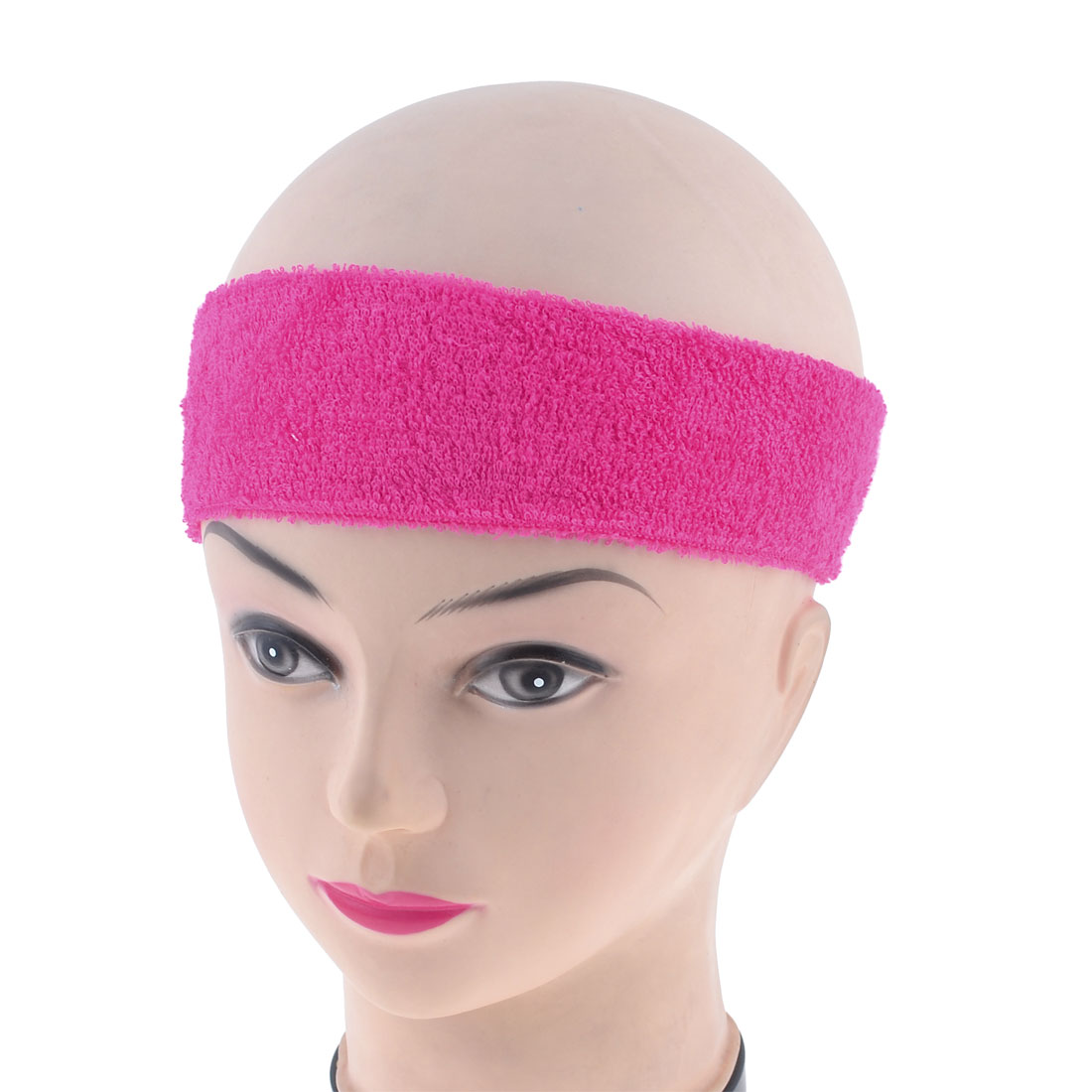 Ladies Bathing Spa Makeup Elastic Nylon Headband Hairband Fuchsia
