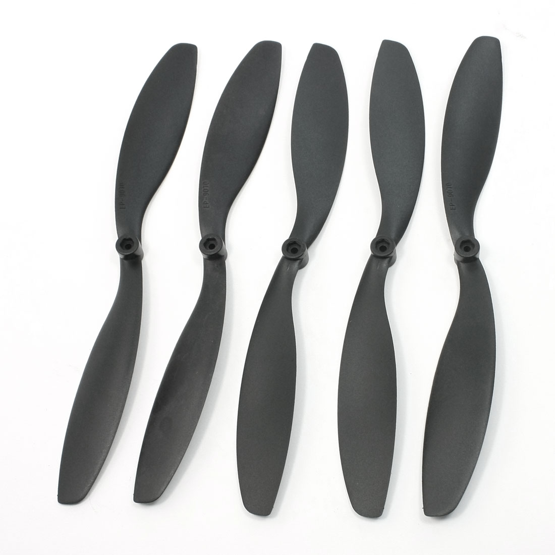 "RC Model Plane 9"" Length 7"" Pitch 9x7 EP9070 Props Propellers Black 5 Pcs"