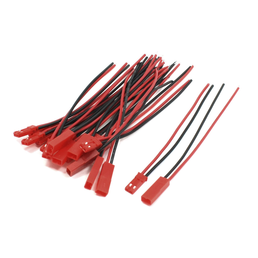 RC Planes Cars Li-Po Battery JST Male Female Connector Wire 22AWG 100mm 10 Pairs