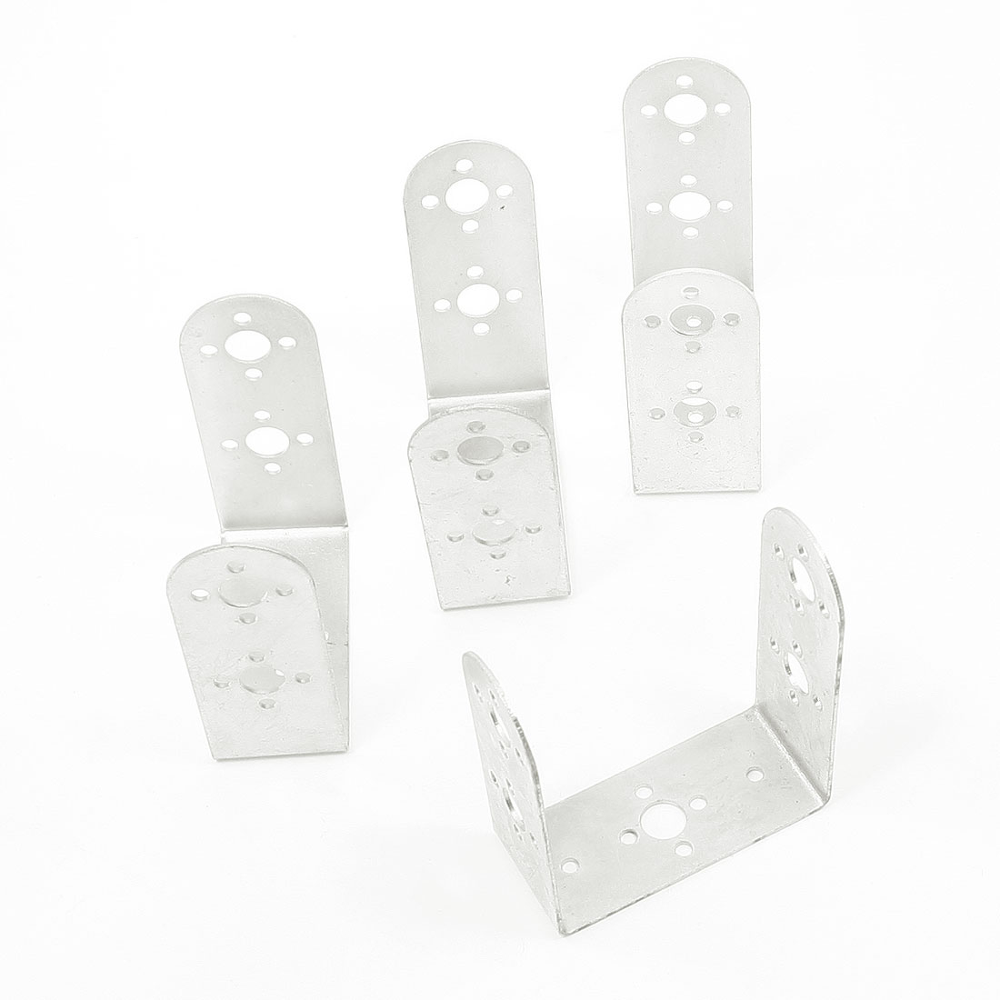 4 x U Type Metal Servo Brackets 8mm 3mm Hole for Robot CCTV Camera