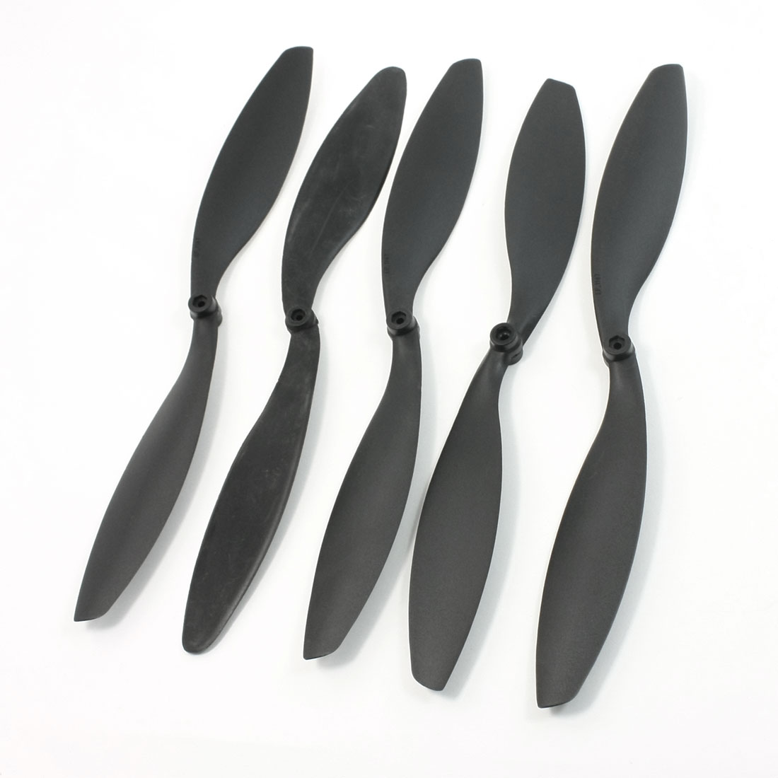 5 x RC Plane Quad Copter 11x4.7 279x119mm 3mm Hole Propellers Props Black