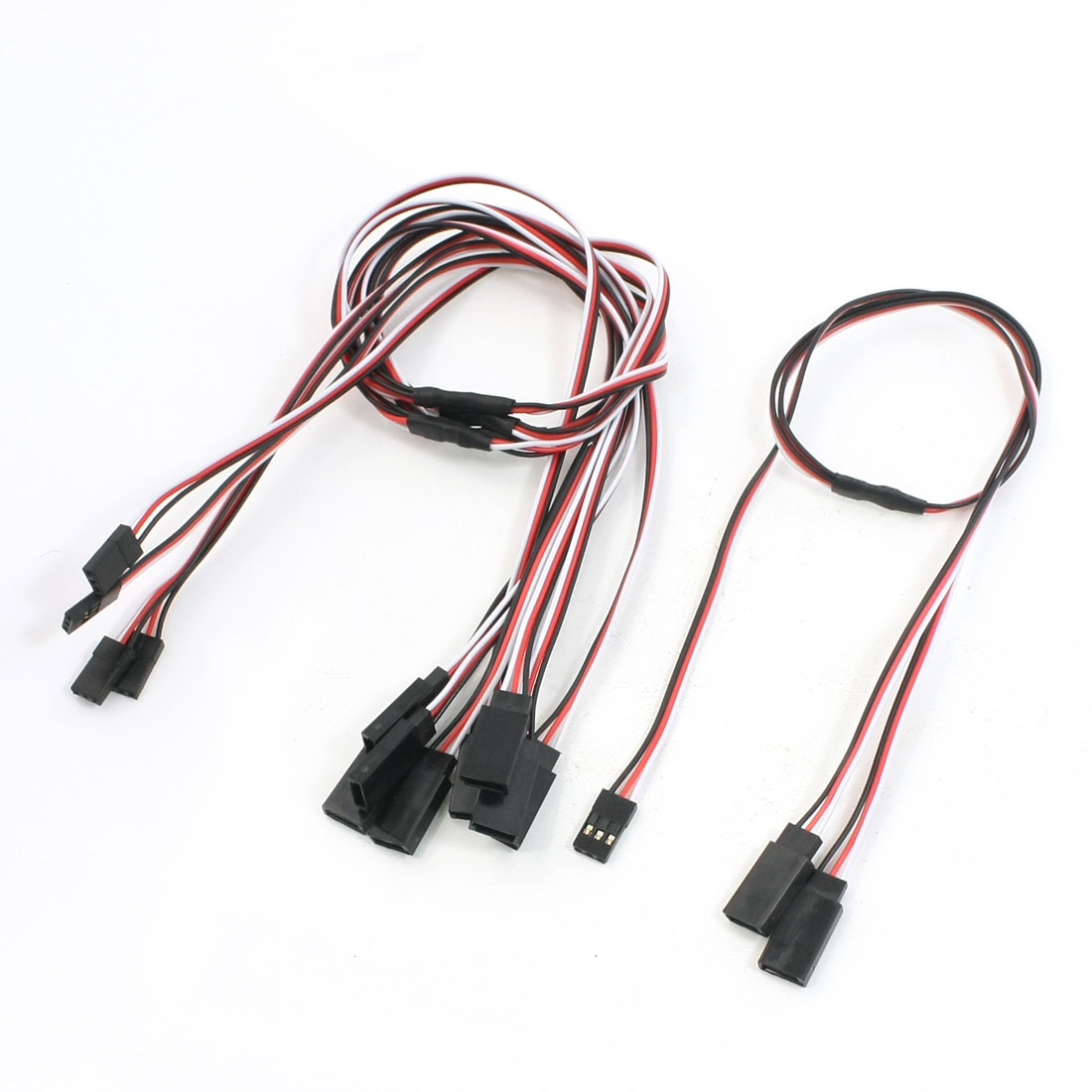 "19.7"" Long 3 Pin 2Male/1Female RC Servo Y Extension Lead Wire Cable 5 Pcs"