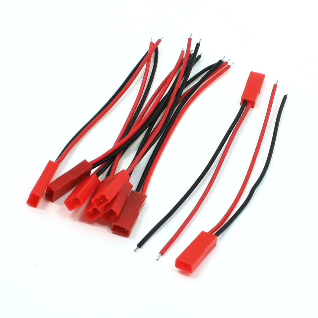 "9 x RC Cars Planes JST Female 3.9"" Length 22AWG Wire Cable"