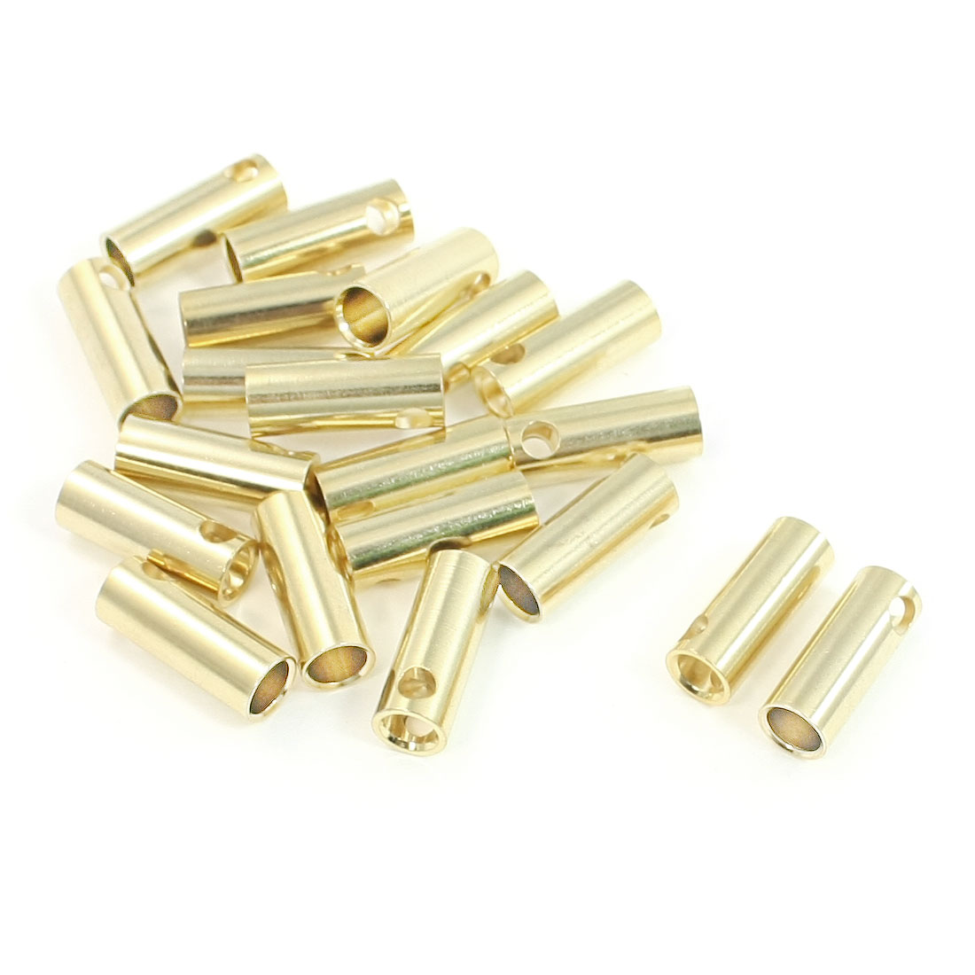 20 PCS 5.5mm Gold Tone Connector Banana Female for RC Airplane