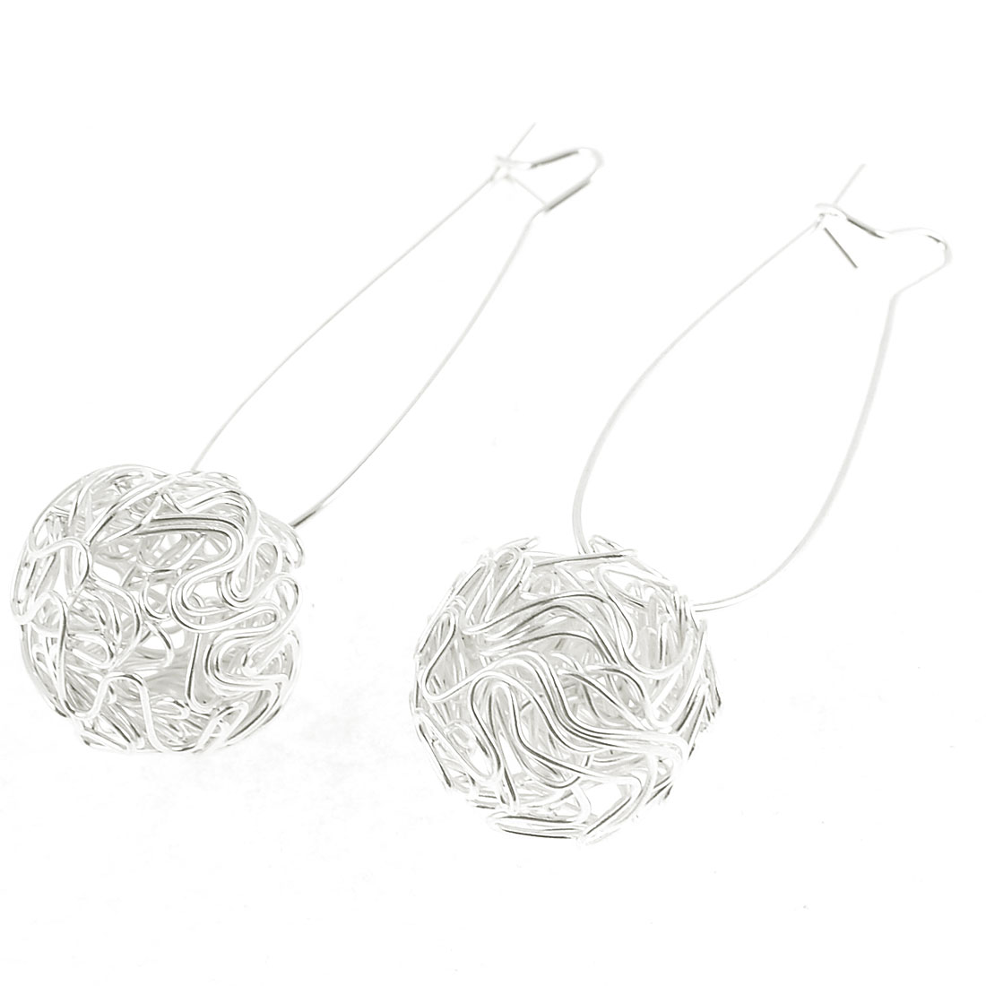 2 Pcs Bird Nest Ear Stud Earrings Silver Tone for Women