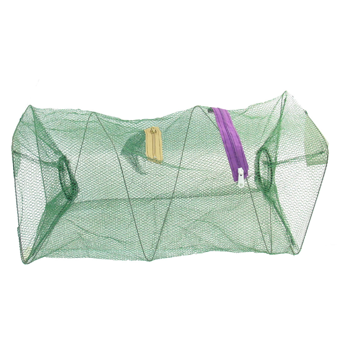 "Foldable Green Nylon 18.9"" High Lobster Crawfish Keepnet"