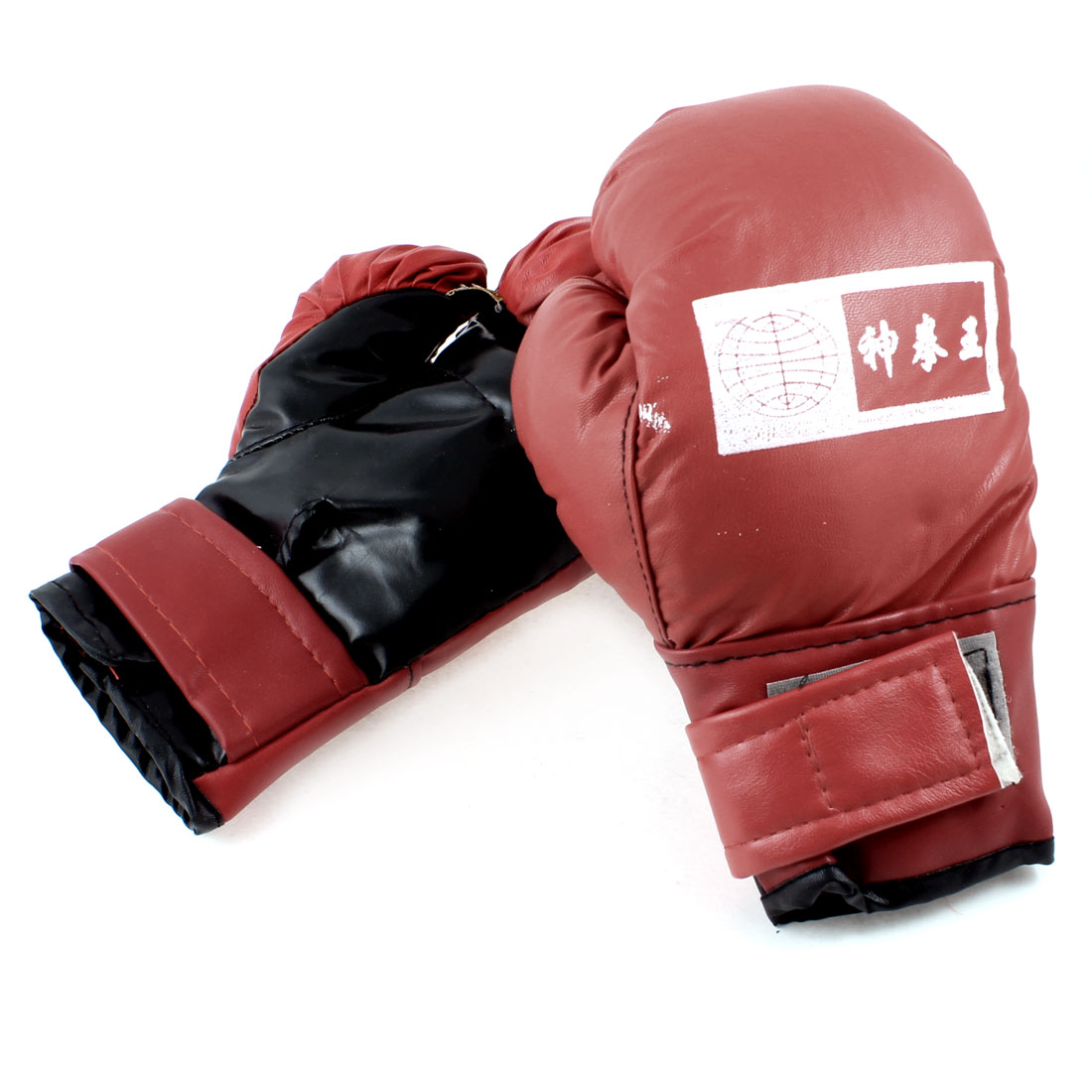 Red Hook Lopp Closure Boxing Punching Gloves Mittens Pair for Children
