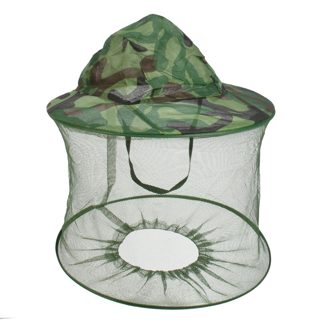 Fishing Folding Net Hood Camouflage Sun Shading Anti Mosquito Fly Cap Army Green